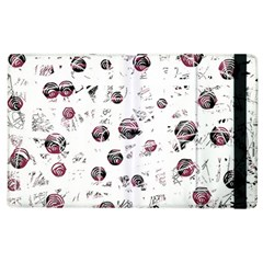 White And Red Soul Apple Ipad 3/4 Flip Case by Valentinaart