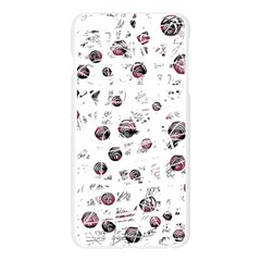 White and red soul Apple Seamless iPhone 6 Plus/6S Plus Case (Transparent) by Valentinaart