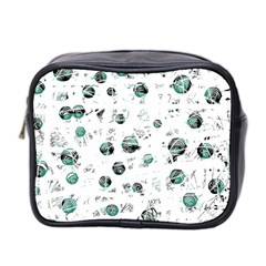 White And Green Soul Mini Toiletries Bag 2 Side by Valentinaart