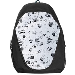 White And Gray Soul Backpack Bag by Valentinaart