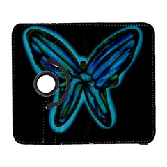 Blue butterfly Samsung Galaxy S  III Flip 360 Case