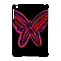 Red butterfly Apple iPad Mini Hardshell Case (Compatible with Smart Cover) by Valentinaart