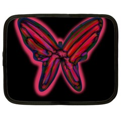 Red Butterfly Netbook Case (xl)  by Valentinaart
