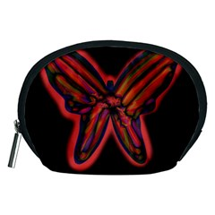 Red butterfly Accessory Pouches (Medium)
