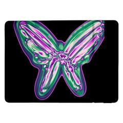 Neon butterfly Samsung Galaxy Tab Pro 12.2  Flip Case by Valentinaart