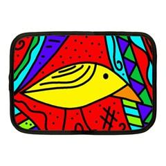 Yellow Bird Netbook Case (medium)  by Valentinaart