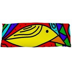 Yellow bird Body Pillow Case (Dakimakura) by Valentinaart