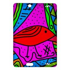 Red Bird Amazon Kindle Fire Hd (2013) Hardshell Case by Valentinaart