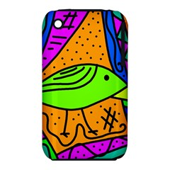 Green Bird Apple Iphone 3g/3gs Hardshell Case (pc+silicone) by Valentinaart