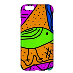 Green Bird Apple Iphone 6 Plus/6s Plus Hardshell Case by Valentinaart
