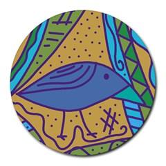Blue bird Round Mousepads
