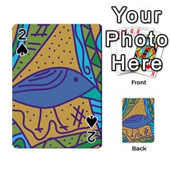 Blue Bird Playing Cards 54 Designs  by Valentinaart