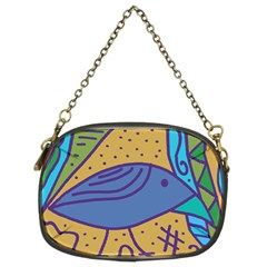 Blue Bird Chain Purses (two Sides)  by Valentinaart