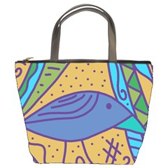Blue Bird Bucket Bags by Valentinaart