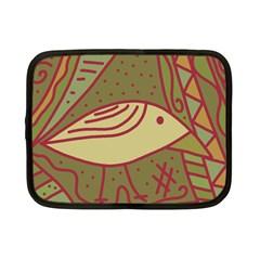 Brown Bird Netbook Case (small)  by Valentinaart
