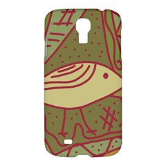 Brown Bird Samsung Galaxy S4 I9500/i9505 Hardshell Case by Valentinaart