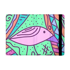 Pink pastel bird iPad Mini 2 Flip Cases by Valentinaart