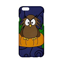 Halloween Owl And Pumpkin Apple Iphone 6/6s Hardshell Case by Valentinaart