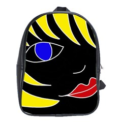 Blond Girl School Bags (xl)  by Valentinaart