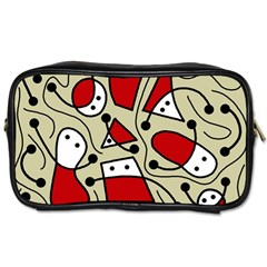 Playful Abstraction Toiletries Bags by Valentinaart