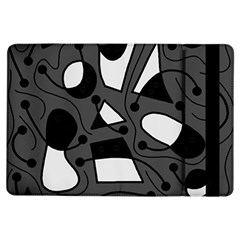 Playful Abstract Art   Gray Ipad Air Flip by Valentinaart