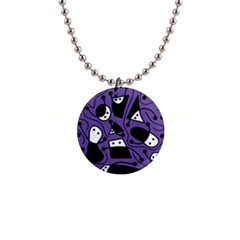 Playful Abstract Art   Purple Button Necklaces by Valentinaart