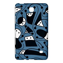 Playful Abstract Art   Blue Samsung Galaxy Tab 4 (7 ) Hardshell Case  by Valentinaart