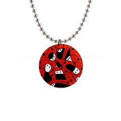 Playful Abstract Art   Red Button Necklaces by Valentinaart