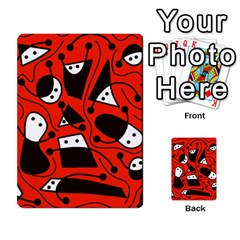 Playful Abstract Art   Red Multi Purpose Cards (rectangle)  by Valentinaart