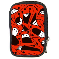 Playful Abstract Art   Red Compact Camera Cases by Valentinaart