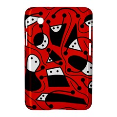 Playful Abstract Art   Red Samsung Galaxy Tab 2 (7 ) P3100 Hardshell Case  by Valentinaart