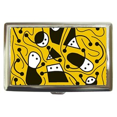 Playful abstract art - Yellow Cigarette Money Cases by Valentinaart
