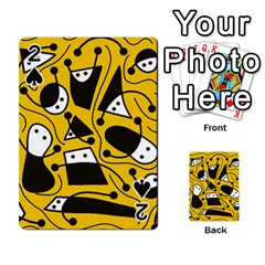 Playful Abstract Art   Yellow Playing Cards 54 Designs  by Valentinaart