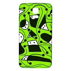 Playful abstract art - green Samsung Galaxy S5 Back Case (White)