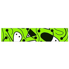 Playful Abstract Art   Green Flano Scarf (small) by Valentinaart