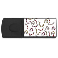 Cute Worms Usb Flash Drive Rectangular (4 Gb)  by Valentinaart