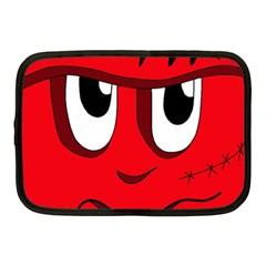 Halloween Frankenstein - red Netbook Case (Medium)  by Valentinaart