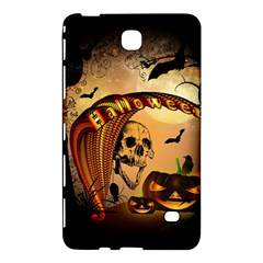 Halloween, Funny Pumpkin With Skull And Spider In The Night Samsung Galaxy Tab 4 (8 ) Hardshell Case  by FantasyWorld7