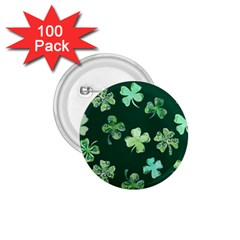 Lucky Shamrocks 1 75  Buttons (100 Pack)  by BubbSnugg