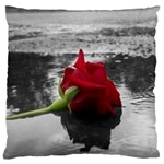 Red Rose Large Cushion Case (Two Sided)