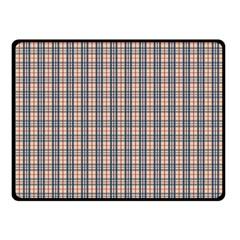 Chequered Plaid Double Sided Fleece Blanket (small)  by olgart