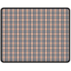 Chequered Plaid Double Sided Fleece Blanket (medium)  by olgart