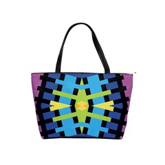 Stars And Stripes Purple Blue Yellow Green Black Shoulder Handbags by CircusValleyMall