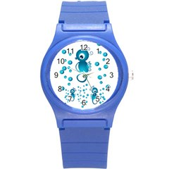 Seahorsesb Round Plastic Sport Watch (s) by vanessagf