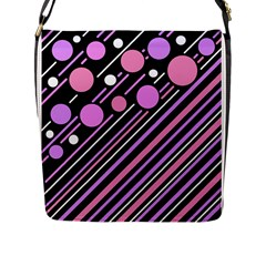 Purple transformation Flap Messenger Bag (L)  by Valentinaart