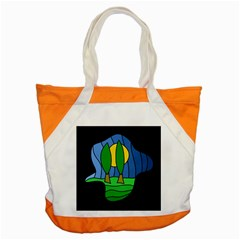 Landscape Accent Tote Bag by Valentinaart