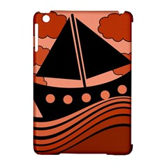 Boat - red Apple iPad Mini Hardshell Case (Compatible with Smart Cover) by Valentinaart