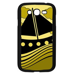 Boat   Yellow Samsung Galaxy Grand Duos I9082 Case (black) by Valentinaart