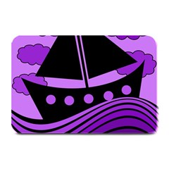 Boat   Purple Plate Mats by Valentinaart