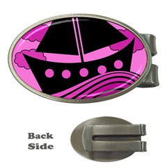 Boat   Magenta Money Clips (oval)  by Valentinaart